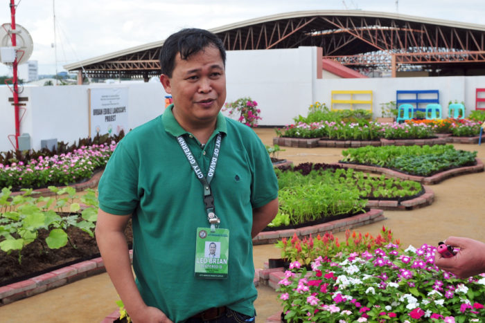 City Agriculturist Office Chief Leo Brian D. Leuterio during the turn-over of the Urban Edible Landscape Project Monday morning.