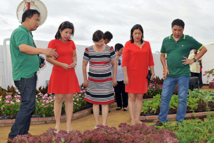During the turn-over of the Urban Edible Landscape Project, (from left to right) City Agriculturist Office Chief Leo Brian D. Leuterio, City Admin. Atty. Zuleika T. Lopez, Dept. of Agriculture USec. Evelyn Laviña, City Veterinarian Dr. Cerelyn Pinili and City Engineer's Office Chief Atty. Joseph Dominic Felizarta.